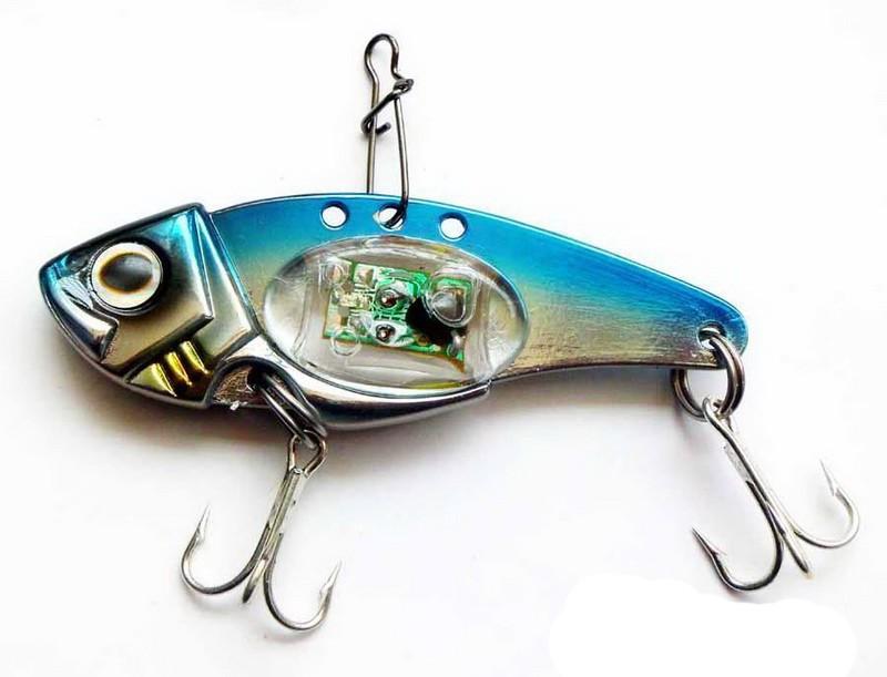 Goture LED fishing lure trout hard bait 32g 80mm luminous VIB sinking lure eye fish metal jig saltwater bite light lure pesca(China (Mainland))