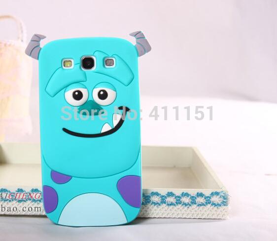 Cute 3D Cartoon Sulley Silicone Case Back Cover Samsung Galaxy E7 E700