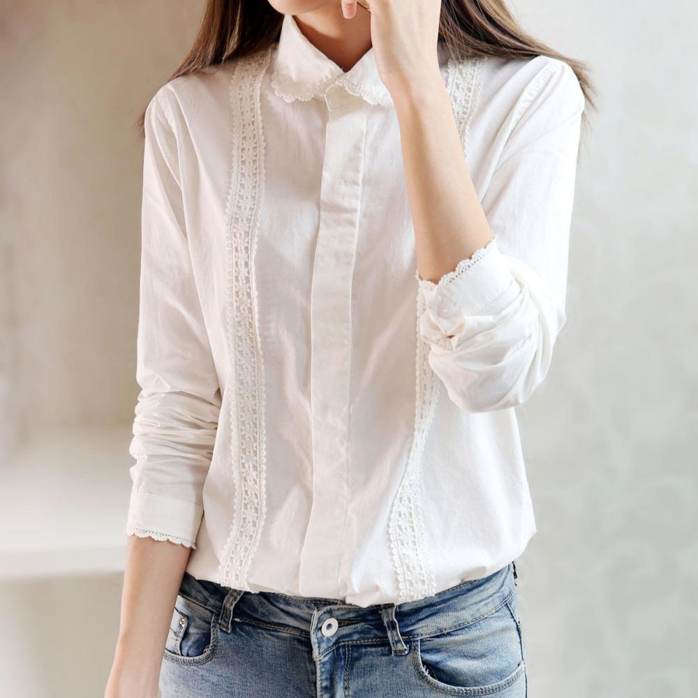 Белая Рубашка Блузка Купить