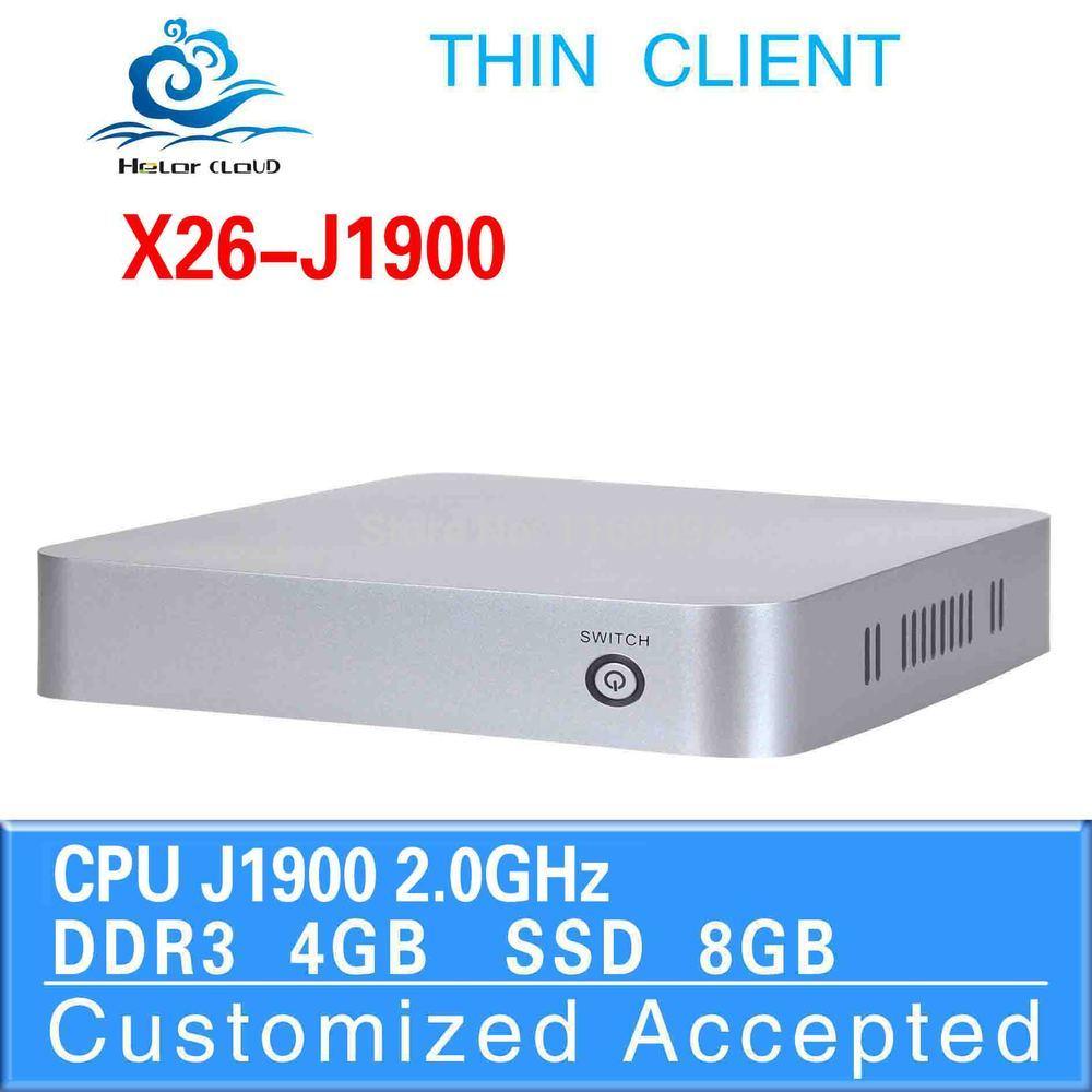 High Performance nuc j1900 wintel X26-j1900 4G ram 8g ssd run Linux/Ubuntu/window 7(China (Mainland))