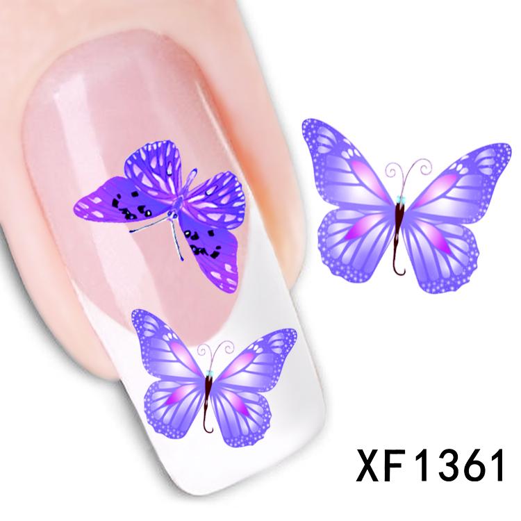 Наклейки для ногтей Larry's Store 1sheets DIY XF1361 кисточка для ногтей yifu store 1 2ways diy nao10