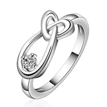 Wholesale Free Shipping 925 Silver Ring 925 Silver Fashion Jewelry Heart Shaped Wedding Ring SMTR658