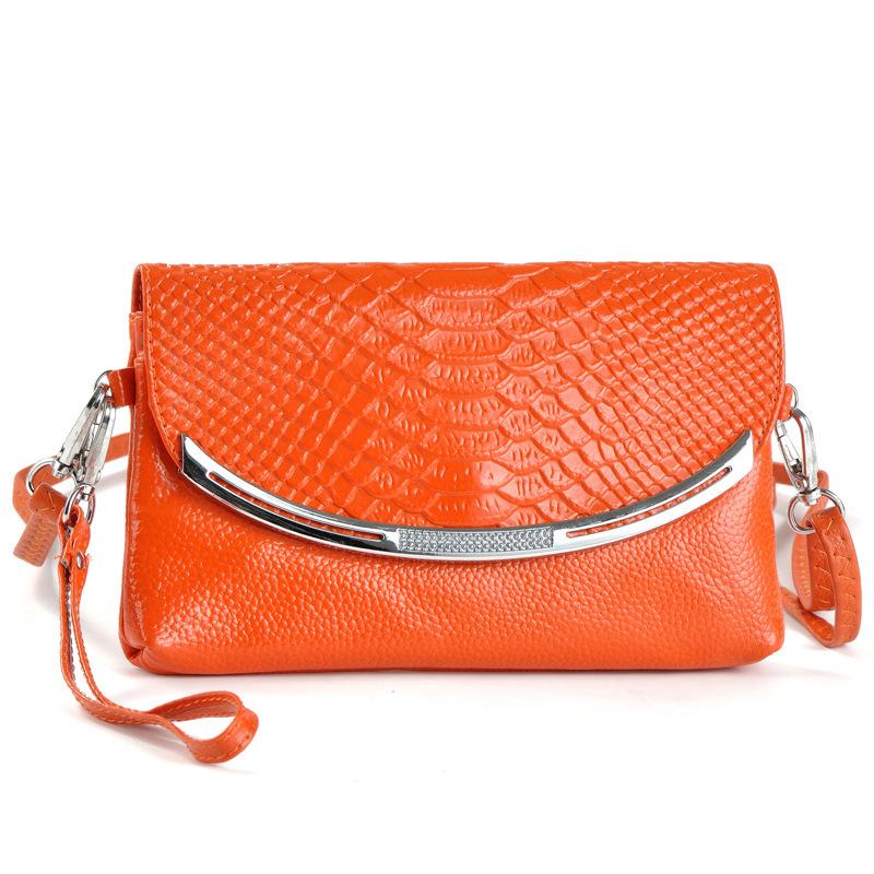 Brand Flap Bag Snakeskin Pattern Genuine Leather Bag+Diamond Hardware Women Handbag Fashion Small Shoulder Cross Body Bags(China (Mainland))