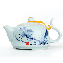 Bone china teapot/kettle,kung fu tea set,tea cup and tea pot,puer tea tools,handpainted lotus,high quality