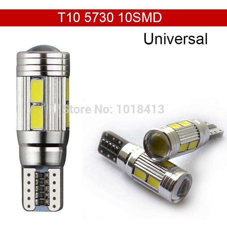 Car Auto LED T10 194 W5W Canbus 10 SMD 5630 5730 LED Light Bulb No error led parking Fog light Auto No Error univera car light(China (Mainland))