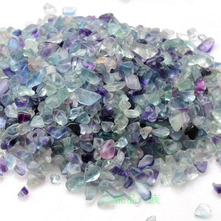 A Natural Multi Color Fluorite Gravel Crystal Pillow Stone