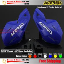 "ACERBIS Blue Plastic 7/8"" 22mm & 1-1/8 28mm Handlebar Handguard Motorcycle Dirt Bike Motocross MX Supermoto crf ATV Quad YZF(China (Mainland))"