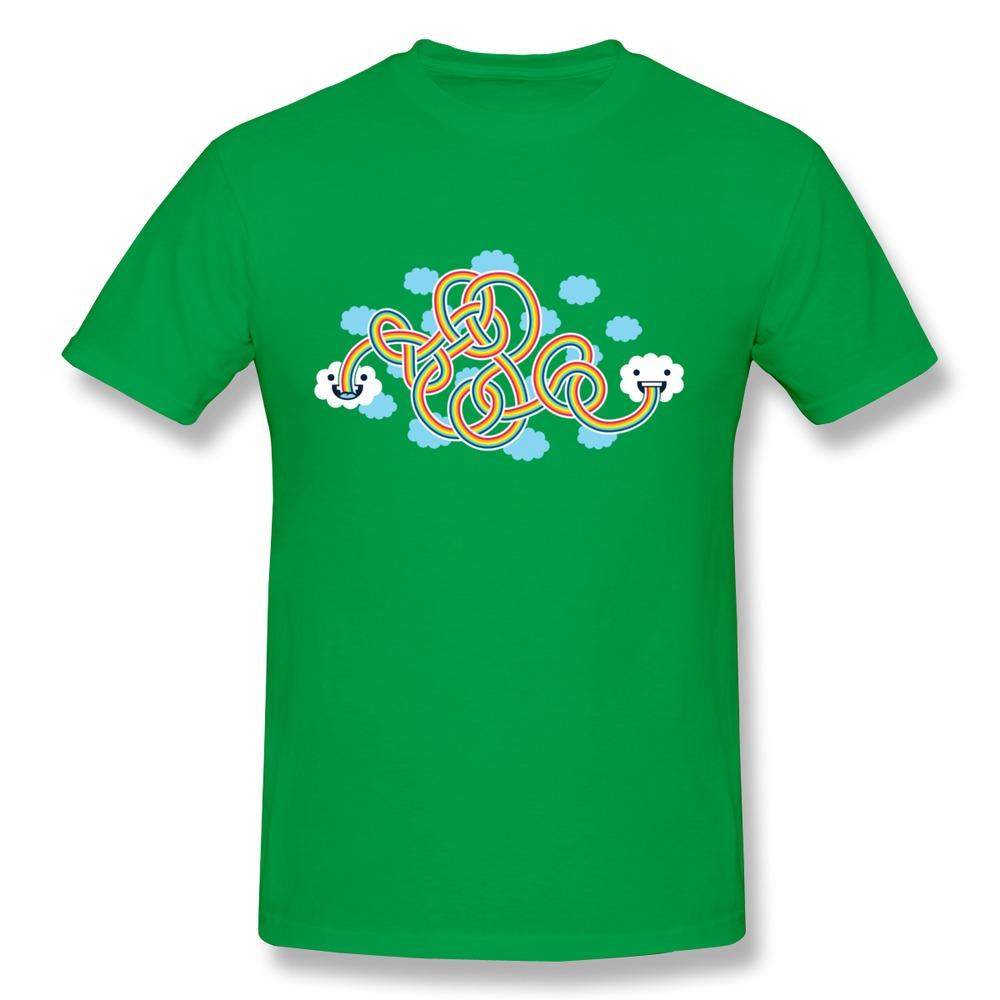 new fashion Rainbow Candy shirts spring o-collar adult company t shirts for men(China (Mainland))