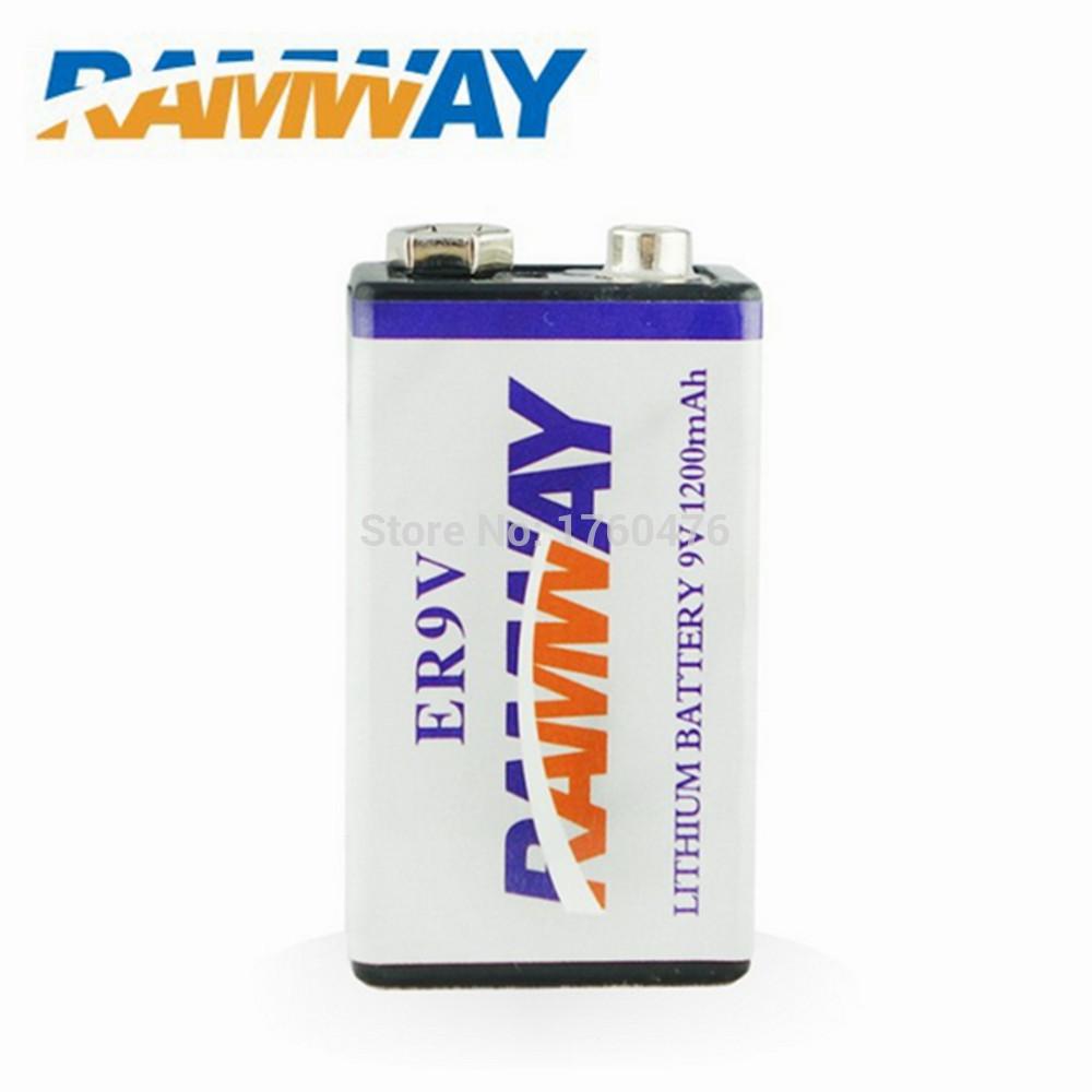 ramway battery 9v lithium 1200mAh ER9V for smoke detector(China (Mainland))