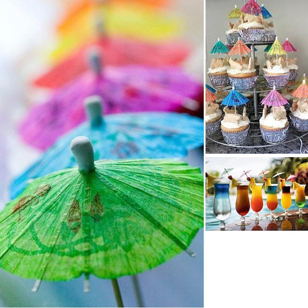 23Pcs Paper Cocktail Parasols Umbrellas Party Wedding Supplies Luau Drink Stick(China (Mainland))