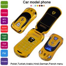 Flip  Russian keyboard French Spainish Polish Turkish Hindi flashlight  FM Vibration car model mini mobile cell phone Q88 P509