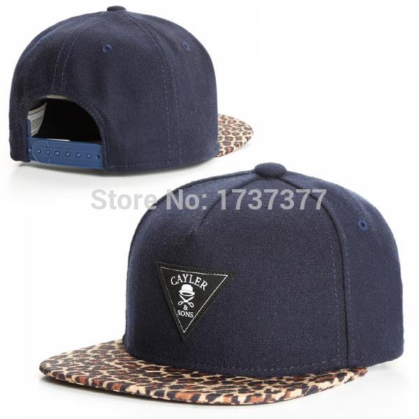 New CAYLER&SONS triangle on the front leopard hat visor snapback hats Men's fashion hip hop baseball adjustable caps(China (Mainland))