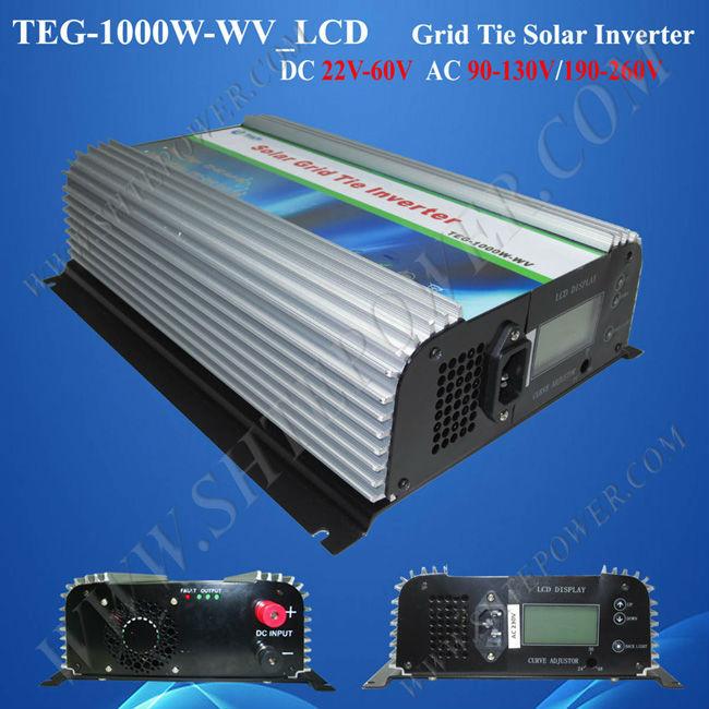 DC 24v 48v to AC 110v 240v on grid mppt power inverter grid tie 1000w pure sine wave output(China (Mainland))