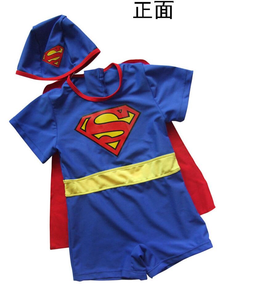 Rash Guards Boys Swimwear Swimsuits/Child Bathing Suit Super Man Swimwear One Pieces Swimsuit For Kids 2-8T Surfing Clothing(China (Mainland))