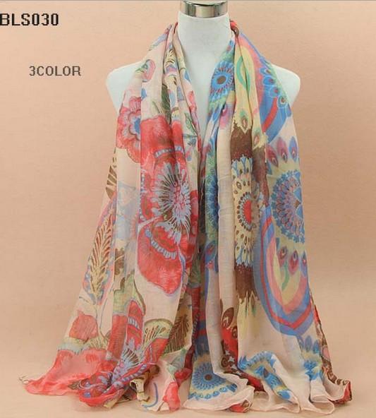 20 pcs/lot Free shipping 180*90 cms cotton scarf fashion shawl viscose scarves Floral Muslim hijab New shawls retail wholesale(China (Mainland))