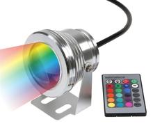 Pas cher livraison gratuite + 10 W LED paysage éclairage rgb changement de couleur LED lumière de la scène 12 volt modifiable LED lampe de poche lampe(China (Mainland))
