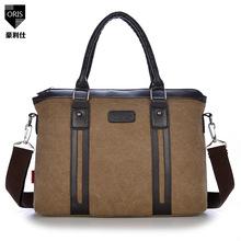 NEW 2015 Men's Vintage Canvas Leather School  Shoulder Bag Computer laptop Bag Satchel