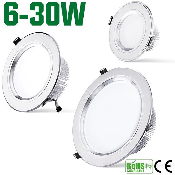 Free shipping 20pcs/lot 30w 20w 15w 12w led downlight AC110-240v SMD5730 warm white down light indoor energy saving Led lamp(China (Mainland))
