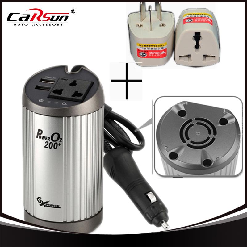 DC 12V to AC 220V 200W Adapter Coke-shaped Car Power Inverter Converter Adaptor Notebook USB Port Gift Conversion Plug(China (Mainland))