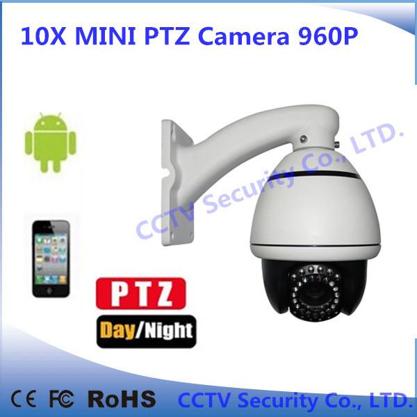 Free shipping CCTV Security camera 960p mini ptz high speed dome ip camera ONVIF H.264 with IR 80M CCTV IP Camera 10x zoom(China (Mainland))