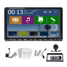 "Free Camera WIN 8 7"" 2 Din TFT Screen In-dash GPS Navigation Car DVD Player Car Audio Stereo ipod+BT+Radio Free Map Head Unit"