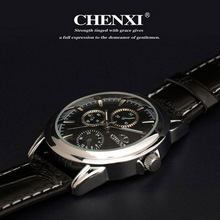 HOT NEW FASHION QUARTZ HOUR DIAL CLOCK LEATHER STRAP WATCHES BUSSINESS MEN S CASUAL WATER WRIST