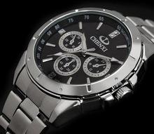 Free Shipping AliExpress Hot selling CHENXI brand clock male Three circles decoration men quartz dress casual watches QW5931