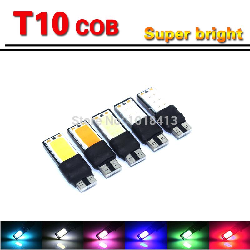 T10 LED COB Interior Bulb Light Parking Backup194 168 W5W Fog Light Brake Lamps Canbus Auto No Error univera car lightl(China (Mainland))