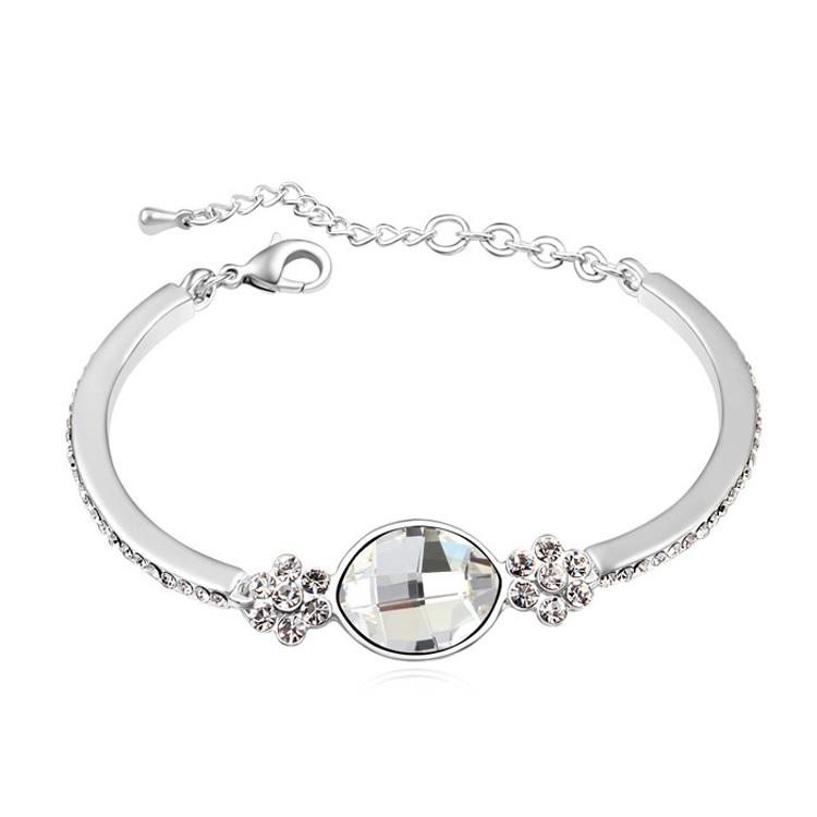 2015 New Design Fashion Bracelets Made with Swarovski Elements Crystal Women Silver Brazaletes Pulseras Mujer One Direction(China (Mainland))