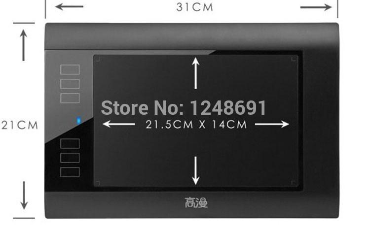 Цифровой планшет 2015 Gaomon 860T 8' USB планшет