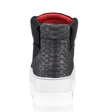 2015 best selling men s genuine leather shoes black color royaums lace up red lining casual