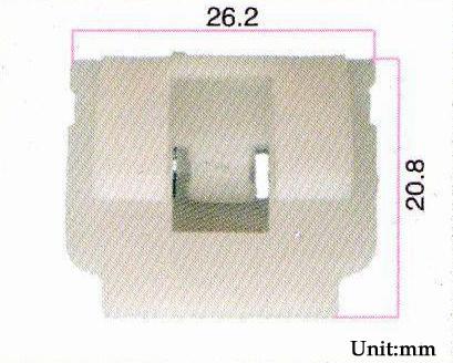 10 pic Retaining Strip Buckle White Plastic Rivet Door Retaine 26.2mm x 20.8mm(China (Mainland))