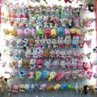 New design Cute bowknot panda style squishy charm / mobile phone strap Pendant / Wholesale 50pcs/lot