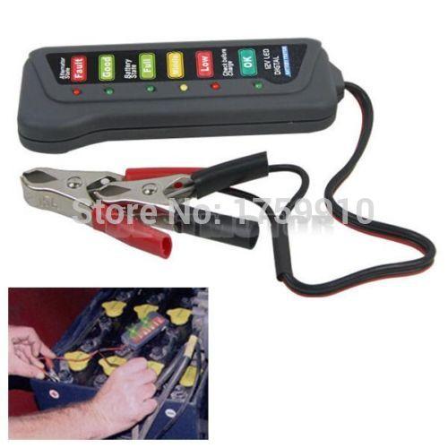 12V Auto Car Battery Alternator Load 6 LED Light Battery Tester Digital Display Indicates Condition(China (Mainland))