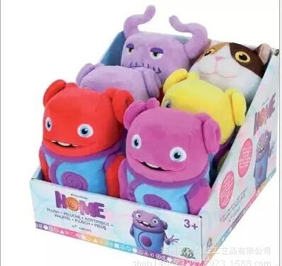 DreamWorks crazy alien kids fashion stuffed dolls small European homeland moive 20cm Home oh boov plush toys for children gifts(China (Mainland))