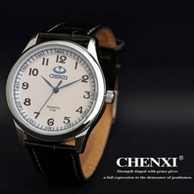 HOT NEW 3ATM FASHION Water Resistant!! CHENXI Brand Leather Strap Watch for Mens Fashion Style Quartz Watches clock QW3691