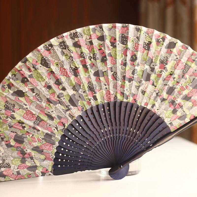 [Collection] Edo Japan Japanese folding fan and fan sub-fields of rural small fresh paint TYC(China (Mainland))