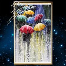 Diamante pintura bordado kit imagens de strass nova needlework decoração de interiores pintura chuva e guarda-chuva 70(China (Mainland))