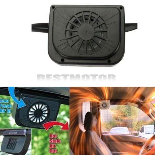 Solar Sun Power Car Auto Air Vent Cool Fan Cooler Ventilation System Radiator(China (Mainland))