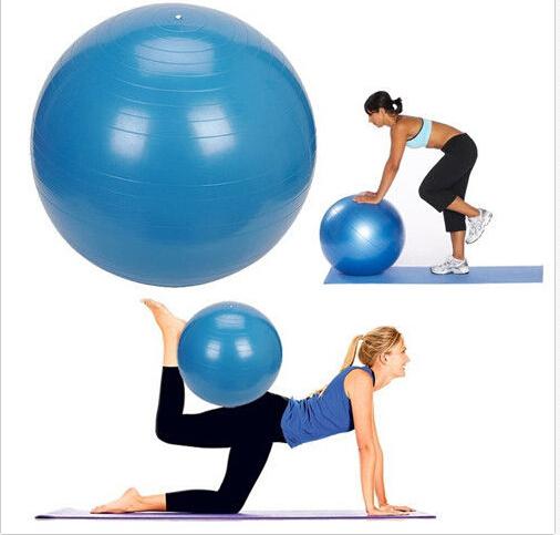nieuwe aankomst 2015 fitness oefening gymnastiekbal yoga bal kern buik rug training been h5014 55cm(China (Mainland))