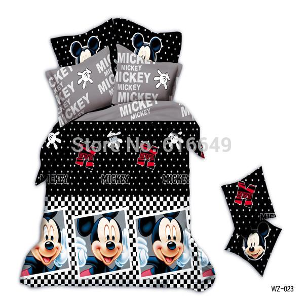 Hot style 3D cartoon bedding set 4PCS black&white dot duvet cover children's bed set/bedspread/bed sheet queen size bedclothes(China (Mainland))