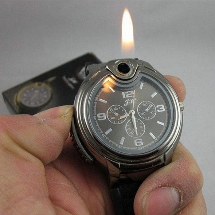2015 Military Lighter Watch Novelty Man Quartz Sports Refillable Gas Cigarette Cigar Men's Watches Luxury Brand Gift Retail Box(China (Mainland))