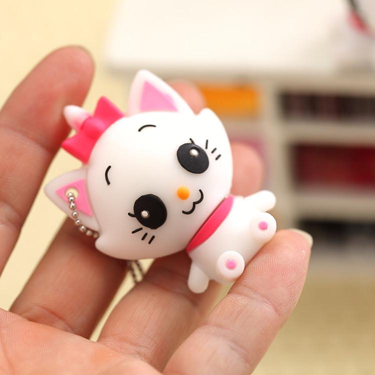 New Cartoon Lovely Cute cat model 2GB-32gb USB 2.0 Flash Memory Stick Drive U Disk Stick Drive l/Free shipping(China (Mainland))