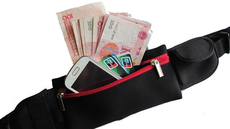 Mobile phone waist bags Unisex Running Bum Bag Travel Handy Hiking Sport Fanny Pack Waist Belt Zip Pouch(China (Mainland))