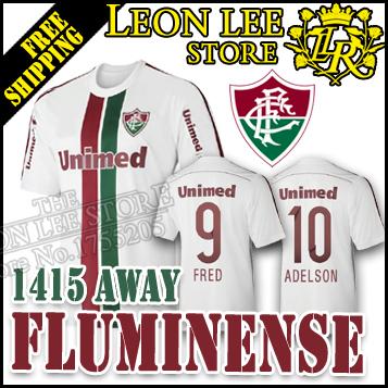 Fluminense 14 15 Away Jersey white Fluminense Soccer Jersey 2015 New football shirt CONCA FRED MICHAEL Kids kit Women jersey(China (Mainland))