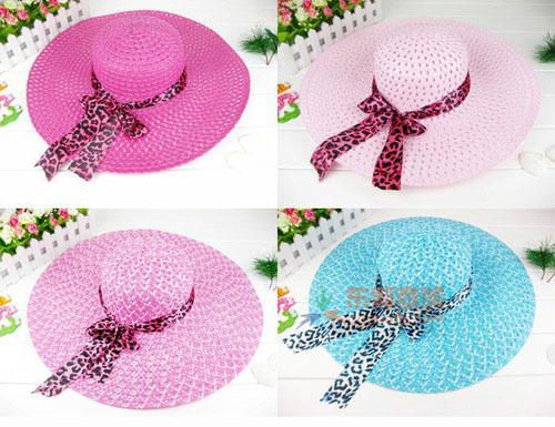 Stylish Women Cap Straw Wide Brim Summer Straw Hat For Women Floppy Hats Ladies Beach Hat HT145(China (Mainland))