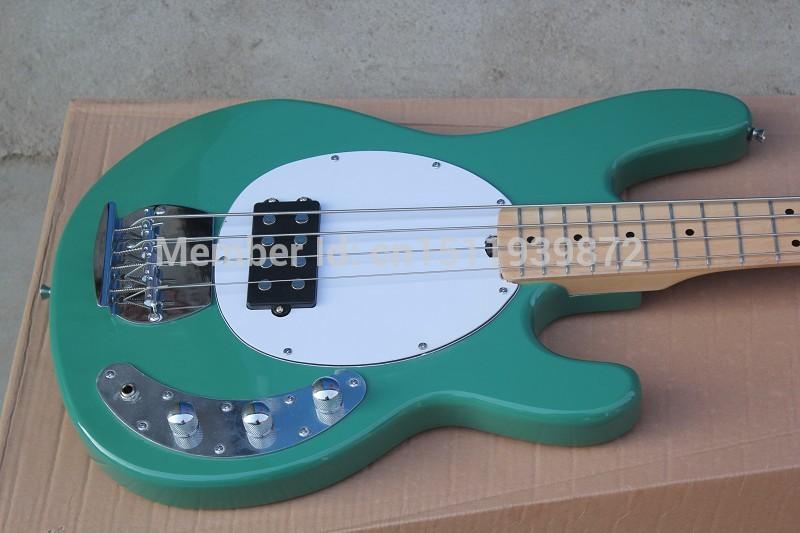 Hardcase Bass Guitar StingRay 4 Music Man green Electric Bass Best Musical instruments Active pickups(China (Mainland))