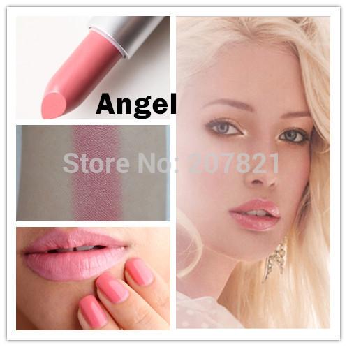 1pcs famous brand beauty light pink lipsticks mc angel lipstick professional makeup waterproof lip stick cosmetic batom(China (Mainland))