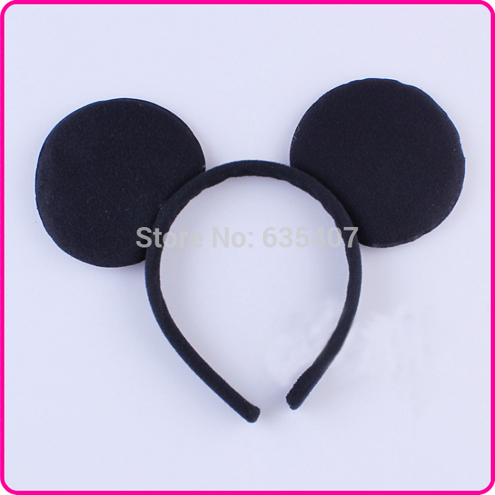 30pcs/lot Children Hair Accessories Mouse Ears Headbands Birthday party Boys Girls Carton headband Party Accessories(China (Mainland))