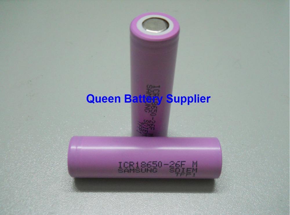 Аккумулятор Samsung icr18650/26f 18650 26FM 3.7V 2600mAh li/ion  ICR18650-26FM аккумулятор oem 4 samsung 18650 2600mah